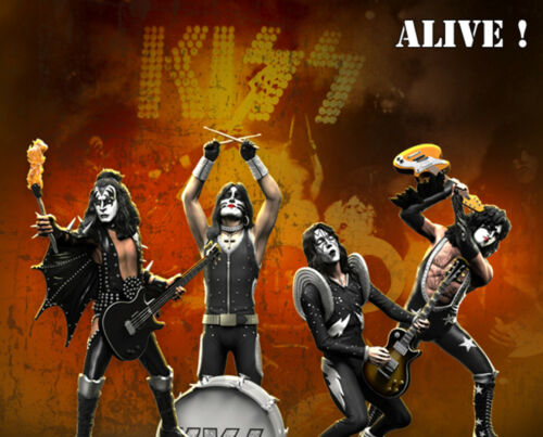 KISS (ALIVE!) Set Rock Iconz™ Statues Direct from KnuckleBonz