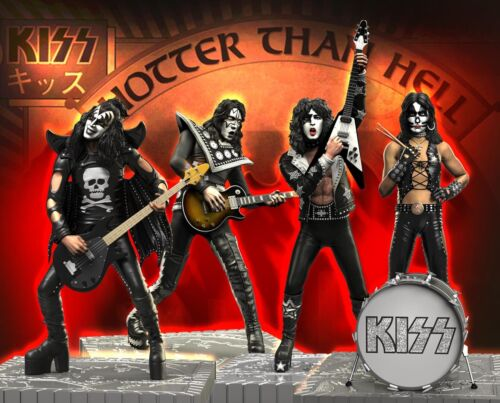 KISS (Hotter than Hell) Set Rock Iconz™ Statues Direct from KnuckleBonz
