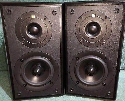 KEF Cresta 1 (SP3320) Bookshelf Speakers 70watt Black ash finish great condition