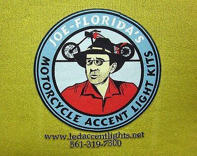 JOE FLORIDA logo koolie Custom Motorcycle beer koozie Accent Lights - Custom Beer Koozie