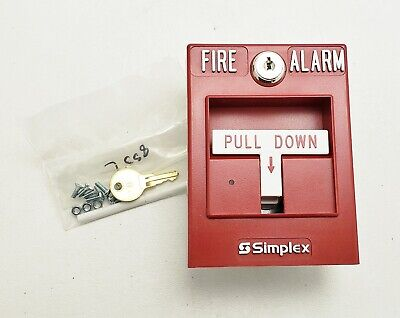 New Simplex 4099-9004 Pull Station Addressable Single Action Fire Alarm