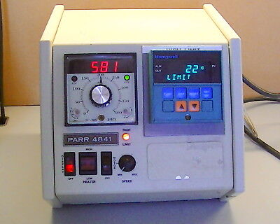 Parr Temperature Controller Mn 4841 With Honeywell Dc2005 Controller W 3x J Tc