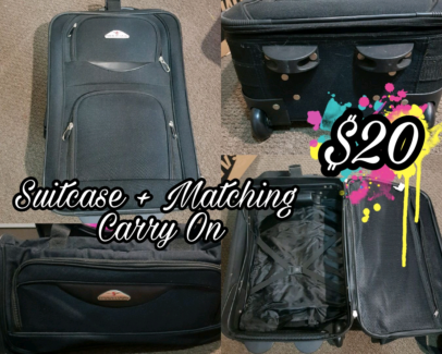 MOVING SALE- Small Rolling Suitcase + Carry On