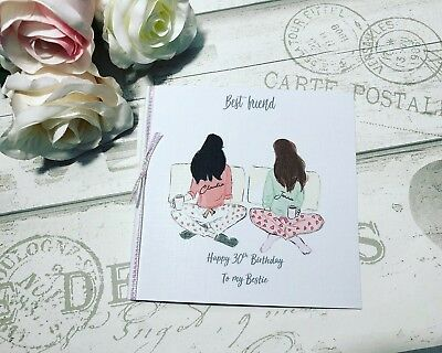 Beautiful Birthday Card for Best Friend/ Sister/ cousin etc 25th 30th 35th