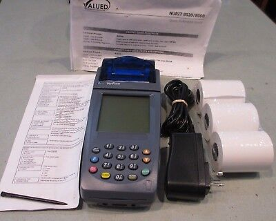 Verifone Nurit 8020 Point Of Sale Pos Wireless Credit Card Terminal 8000s Grps