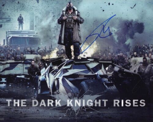 TOM HARDY signé 10x8 PHOTO THE DARK KNIGHT RISES AFTAL coa (5656)