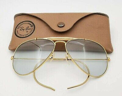 Vintage B&L Ray Ban Bausch & Lomb Gray Super Changeables 58mm Aviator (Super Cheap Ray Bans)