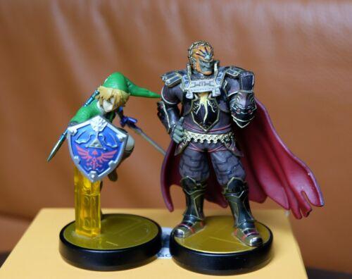 Amiibo Figur Link und Amiibo Smash Ganondorf Figur, Wii U | 3DS