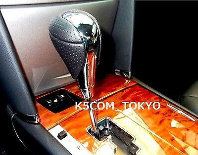 Oem LEXUS ISF Chrome, Black Leather Shift Knob CT200H IS250 IS350 RX300 RX350 CT