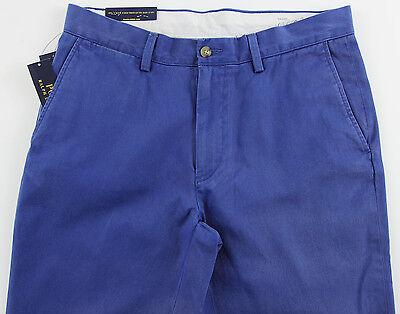 Men's POLO RALPH LAUREN Sporting / Marine Blue Twill Chino Pants 38x32 NWT NEW
