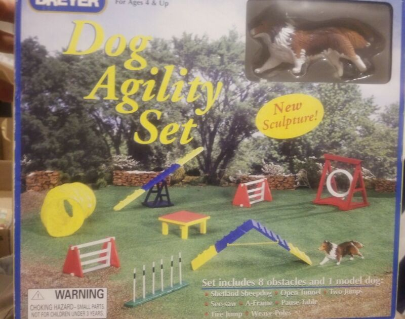Breyer Dog Agility Set #1054 NIB Complete Retired Horse Accessory