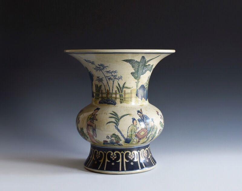 A Vintage Chinese Porcelain Doucai Style Vase