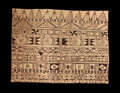tapa cloth, painted beated bark, Wallis and Futuna, oceania, south pacific