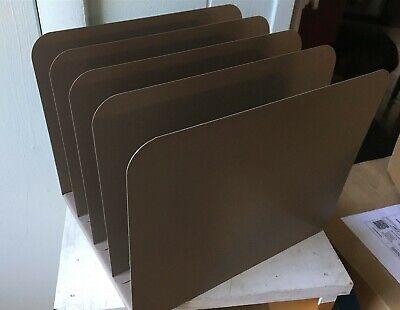 Vintage Metal Industrial Office Desk 5 Slot File Organizer Holder