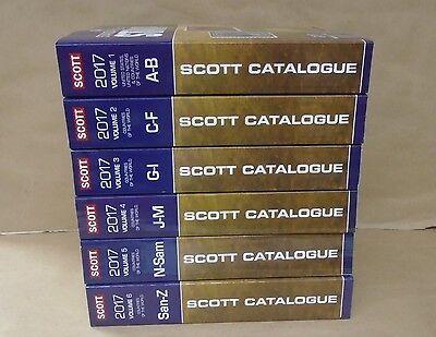 2017 Scott Worldwide Stamp Catalogues Complete Set Volumes 1 Thru 6