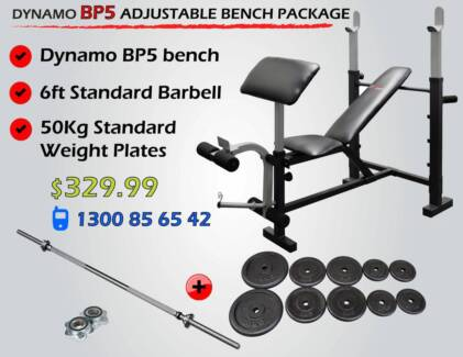 Bench Press , Barbell + Weights Package $330.00 NEW IN BOX Malaga Swan Area Preview