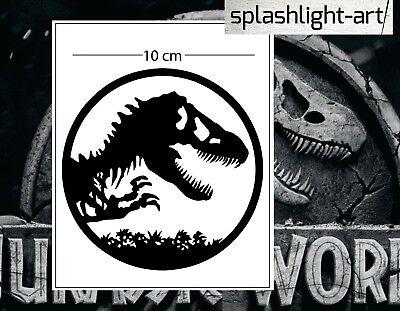 Jurassic logo symbol 10cm black Vinyl Decal Sticker for car wall laptop World