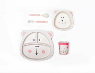 bamboo dinnerware set polar bear