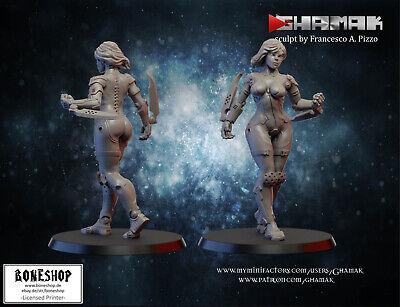 "Cyborg ""Akita"" Ghamak   28mm-35mm   DnD   RPG   Tabletop  ..."