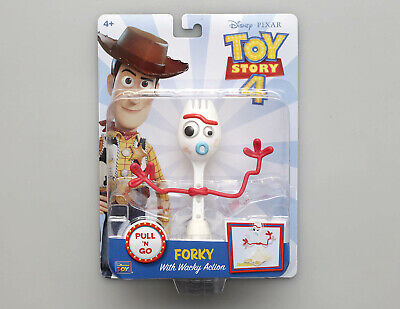 Disney Pixar TOY STORY 4 Forky Pull N Go with Wacky Action #2 - In Hand NIP