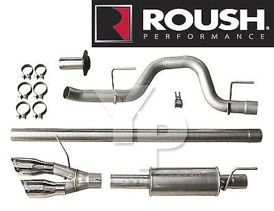 Roush 421711 Cat Back Side Exit Exhaust System for 2010-2014 Ford F-150 & Raptor