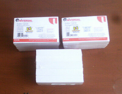 Universal 3 X 5 Ruled Index Cards - 47215 Lot Of 3 New