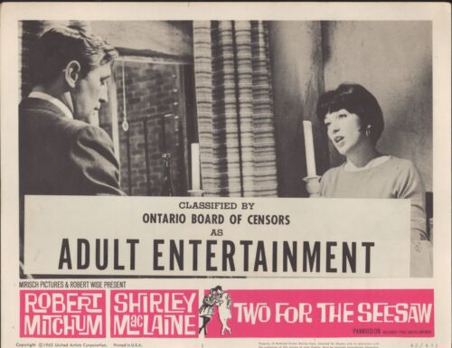 Two For the Seesaw 1962 11x14 Lobby Card #1