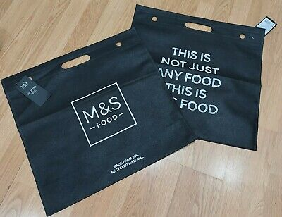 M&S Marks&Spencer Large Tote Reusable Shopping Bags X2 100% Recycled