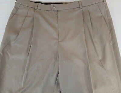Perry Ellis Mens Dress Pants 40x32 Portfolio Flex Stretch Gripper Waist New