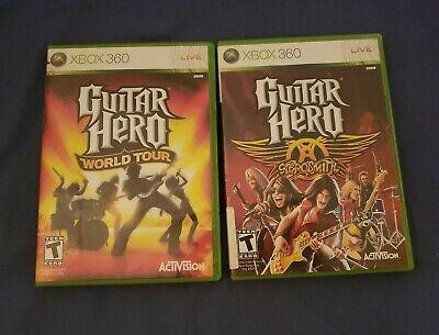 Guitar Hero: World Tour And Aerosmith Bundle (Microsoft Xbox 360, 2008) Comp for sale  Shipping to Nigeria
