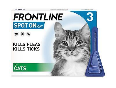 FRONTLINE Protect Cats, Spot On Flea & Tick Treatment 3 Pipettes