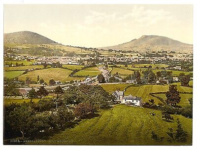 3 Reproduction Abergavenny Holy Sugar Loaf Antique Old Photos Pictures set NEW