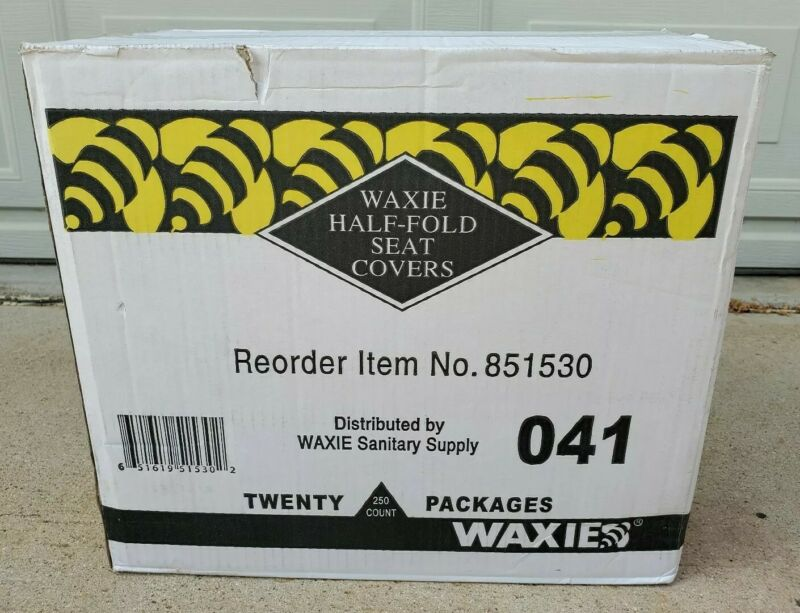 Waxie Sanitary Half-Fold Toilet Seat Covers Full Case 20 Packages