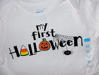 My First Halloween Baby T Shirt (TCP BABY BOY GIRL MY FIRST HALLOWEEN COTTON L/S BODYSUIT T SHIRT TOP)