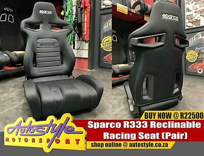 Sparco R333 Seats Sold As A Pair Excluding Rails R22500 Genuine Imported Item Suitable Fit Porsche City Centre Gumtree Classifieds South Africa 571403769