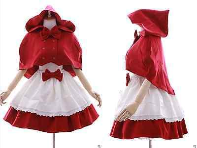 JL-605 Rotkäppchen Red Riding Hood rot Cape Rock - Gothic Rotkäppchen