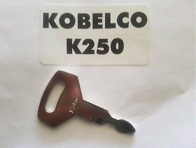 1 Kobelco Excavator Heavy Equipment Keys Oem Logo K250 Fit Case Kawasaki