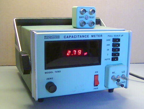 Booton Capacitance meter 72BD FULL SCALE-PF w/ 72-5C and 72-4B attachments