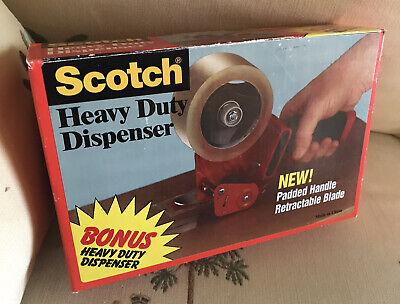 New Scotch Pistol Grip Packaging Tape Dispenser 3 Core Metal Red