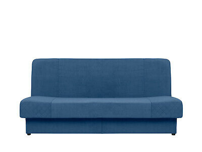 BLUE 3 SEATER SOFA BED WITH STORAGE, BONELL SPRINGS, DOUBLE BED, WERSALKA ANIA