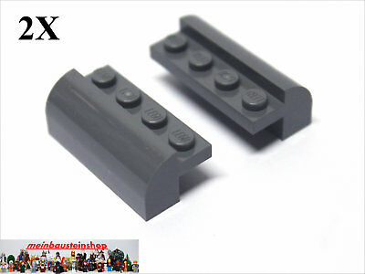 2 x LEGO® 6081 Bogensteine 2x4x1 1//3weiß modifiziert wie auf dem Foto gebraucht.