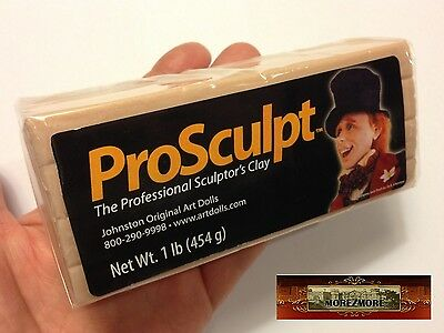 M00031 MOREZMORE Prosculpt 1 lb BEIGE CAUCASIAN Doll Sculpting Polymer Clay T20