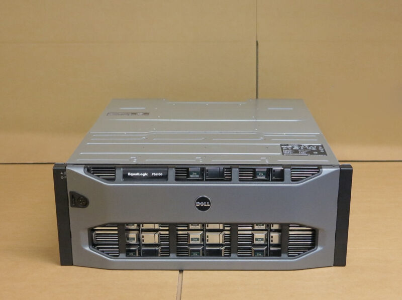 Dell EqualLogic PS6110e Virtualized 10GbE iSCSI SAN Storage Array 24 x 2TB SAS
