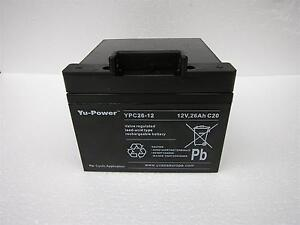 YUASA 12V 26AH 27 HOLE DEEP CYCLE BATTERY SUITS ALL ELECTRIC GOLF TROLLEY 24AH