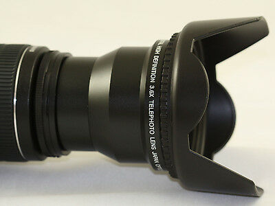 3.6x Super Telephoto Hd Lens Kit For Nikon P500 With Adapter Ring +