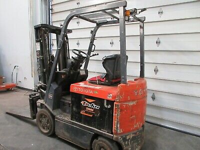 5000 Lbs Toyota Electric Forklift Model 7fbcu25 With Batterycharger