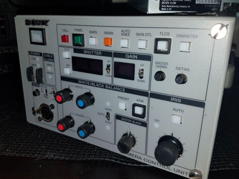 Sony CCU-TX50 Triax SDi Camera Control Unit DXC Cameras Tested