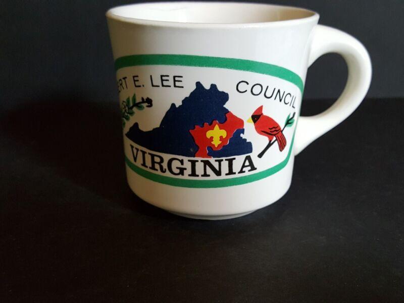 Vintage Boy Scout Robert E. Lee Virginia Ceramic Coffee Mug