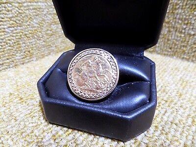 Full Sovereign Ring (1903) Size T,13.3 Grams