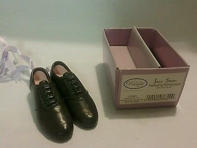 Ensco Its All About Dance Jazz Shoes New In Box Ornament Lilac Ribbon